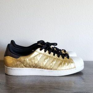 Rare Adidas Gold Sneakers Sz 13